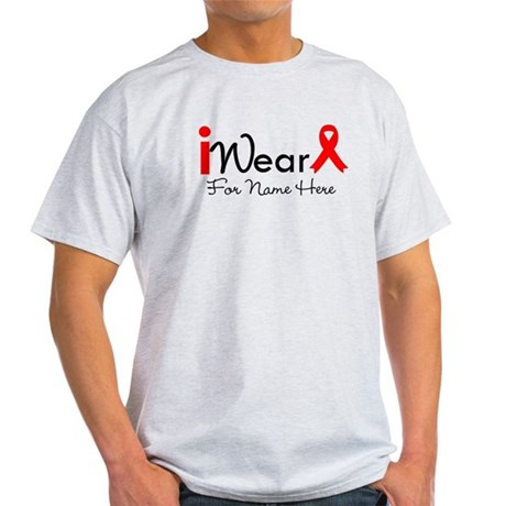 Personalize Heart Disease Light T-Shirt