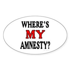 Where's MY Amnesty? Oval Decal