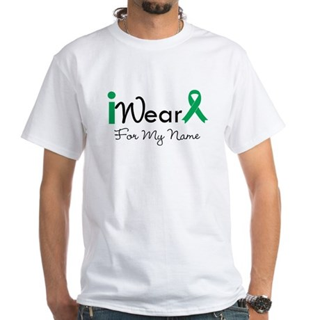 Personalize Liver Cancer White T-Shirt