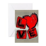 gRUNGE LOVE HEART Greeting Cards (Pk of 10)