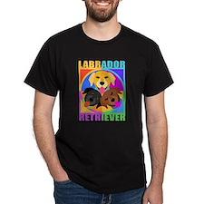 Labrador Retriever Graphic T-shirt-in color
