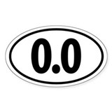 0.0 Euro Oval Bumper Stickers