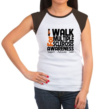 I Walk Multiple Sclerosis Women's Cap Sleeve T-Shi