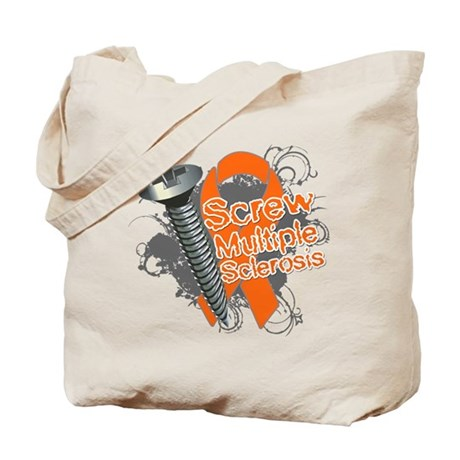 Screw Multiple Sclerosis Tote Bag