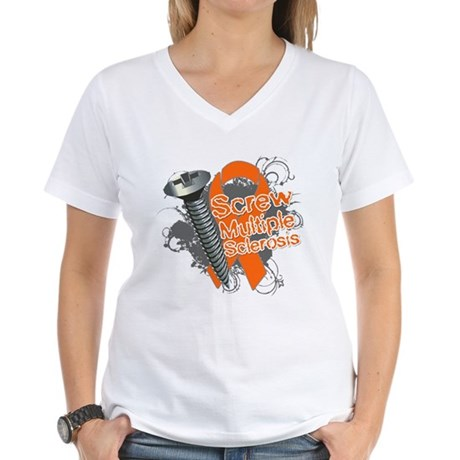 Screw Multiple Sclerosis Women's V-Neck T-Shirt