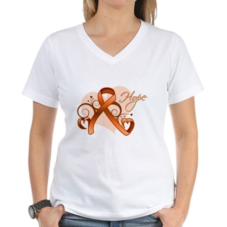 Hope Multiple Sclerosis Women's V-Neck T-Shirt