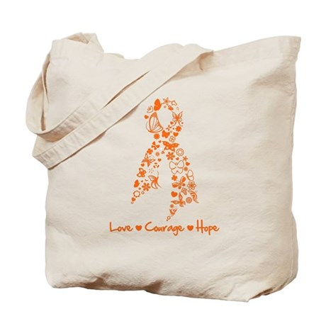 Ribbon Multiple Sclerosis Tote Bag