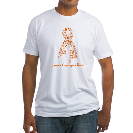 Ribbon Multiple Sclerosis Fitted T-Shirt