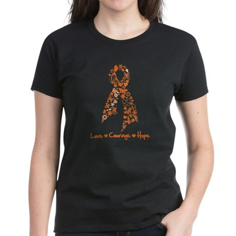 Ribbon Multiple Sclerosis Women's Dark T-Shirt