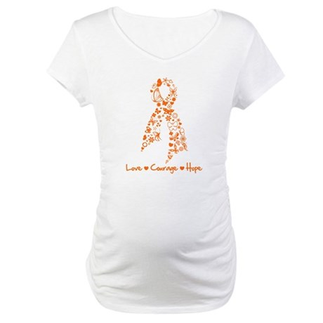 Ribbon Multiple Sclerosis Maternity T-Shirt