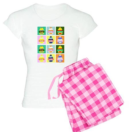Pop Art Sock Monkeys Women's Light Pajamas
