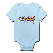 Mixed color musical notes 2 Infant Bodysuit