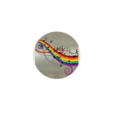 Mixed color musical notes 2 Mini Button (10 pack)
