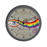 Mixed color musical notes 2 Wall Clock