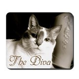Cats black and white Mousepad