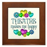 Theatre Happiness Framed Tile
