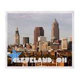 Cute Cleveland cleveland ohio Throw Blanket