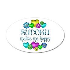 Sudoku Happiness 38.5 x 24.5 Oval Wall Peel