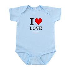"""""""I <3 LOVE"""" Infant Onesie"""