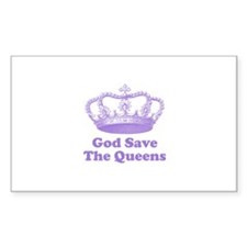 god save the queens (mauve) Decal
