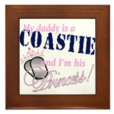 Coastie's Princess Framed Tile