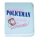Policeman's Princess baby blanket