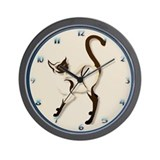 Standing Siamese Kitty Wall Clock