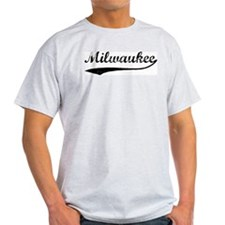 Vintage Milwaukee Ash Grey T-Shirt