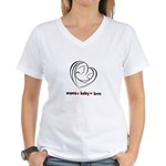 Mama Love Peace Women's V-Neck T-Shirt