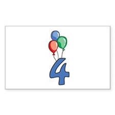 4th Birthday Balloons Decal