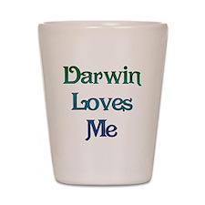 Darwin Loves Me Shot Glass