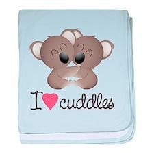 I Love Cuddles baby blanket