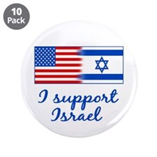 "Support Israel 3.5"" Button (10 pack)"