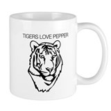 Tigers love pepper Small Mug