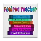 Retired Teacher Tile Coaster