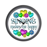 Singing Happiness Wall Clock