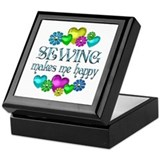 Sewing Happiness Keepsake Box