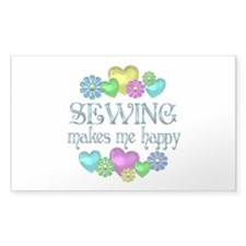 Sewing Happiness Bumper Stickers