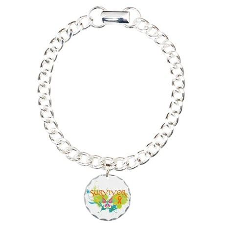 Survivor Multiple Sclerosis Charm Bracelet, One Ch