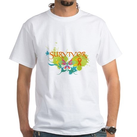 Survivor Multiple Sclerosis White T-Shirt