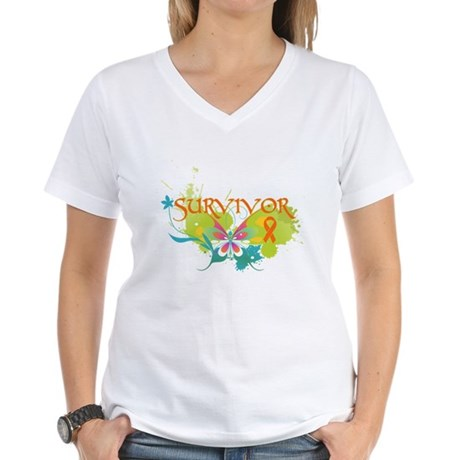 Survivor Multiple Sclerosis Women's V-Neck T-Shirt