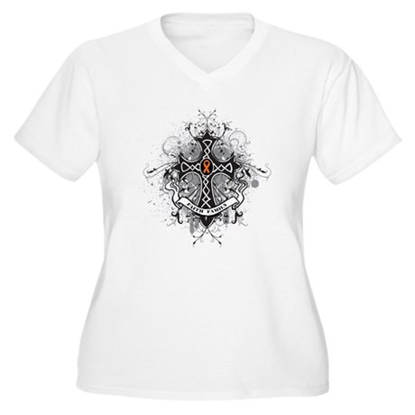 Prayer Multiple Sclerosis Women's Plus Size V-Neck