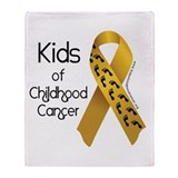 Kids of Childhood Cancer Throw Blanket