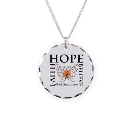 Hope Faith Multiple Sclerosis Necklace Circle Char