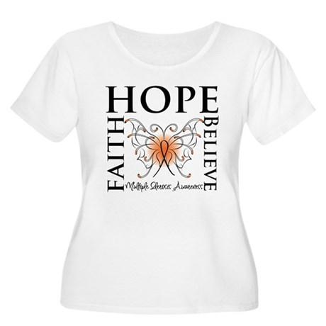 Hope Faith Multiple Sclerosis Women's Plus Size Sc