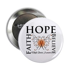 "Hope Faith Multiple Sclerosis 2.25"" Button (10 pac"