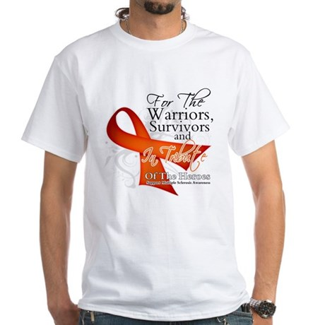 Tribute Multiple Sclerosis White T-Shirt