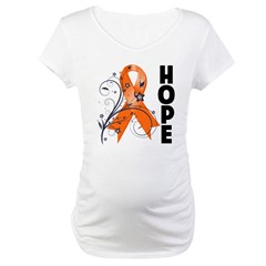 Hope Ribbon Multiple Sclerosis Maternity T-Shirt