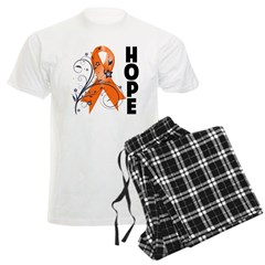 Hope Ribbon Multiple Sclerosis Men's Light Pajamas