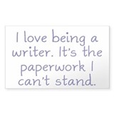 Being a Writer Decal